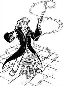 harry potter characters coloring pages