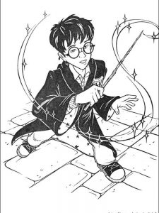 harry potter christmas coloring pages
