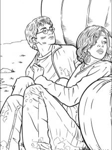 harry potter coloring pages anime