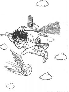 harry potter coloring pages cartoon