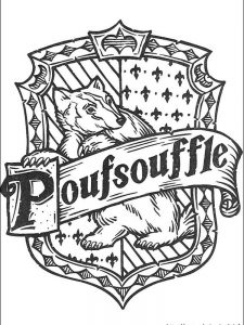 harry potter house banners coloring pages