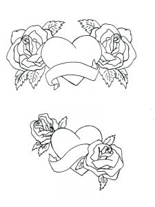 heart coloring pages for adults printable 1