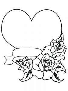 heart coloring pages for kindergarten 1