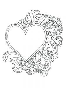 heart coloring pages free 1
