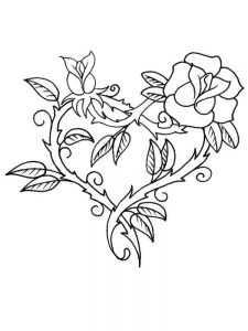 heart coloring pages pdf 1