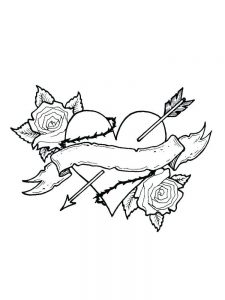 heart coloring pages pinterest 1