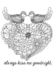 heart coloring pages small 1
