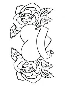 heart coloring pages to print 1