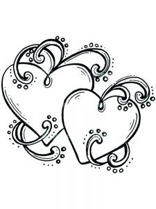 heart coloring sheets for adults