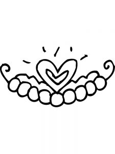 heart crown coloring pages