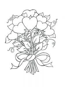 heart with arrow coloring pages