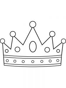 heart with crown coloring pages