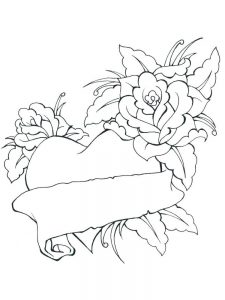 hearts and butterflies coloring pages