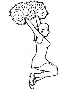 hello kitty cheerleader coloring pages printable