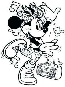 hip hop dance coloring page