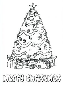 holiday decorations coloring pages christmas tree