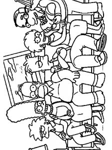 homer simpsons coloring pages image