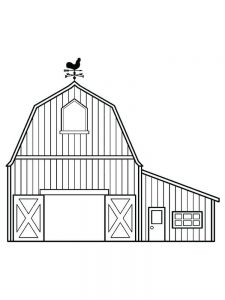 horse barn coloring pages