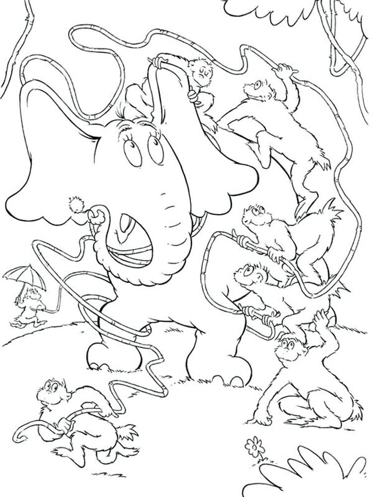 horton hears a who coloring pages pdf