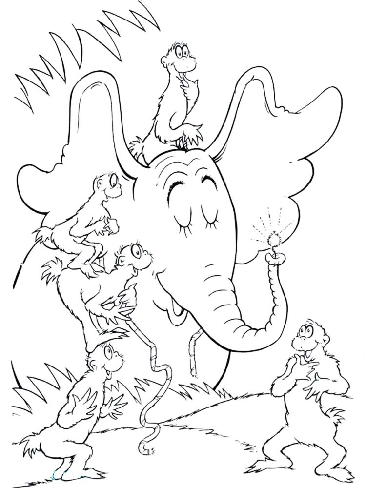horton hears a who coloring pages printable