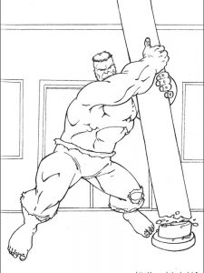 hulk fist coloring page