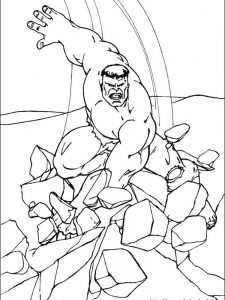 hulk super coloring pages