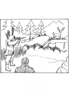 hunting coloring pages dowload