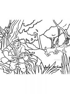 hunting coloring pages printable free