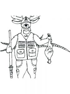 hunting coloring pages to print free