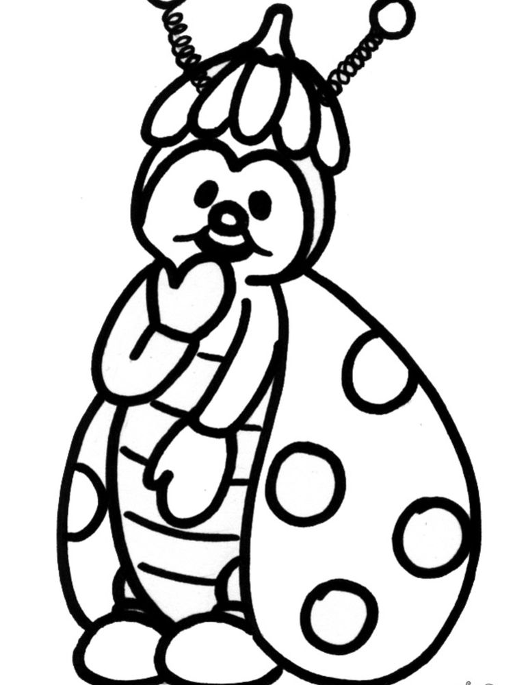image Ladybird coloring pages