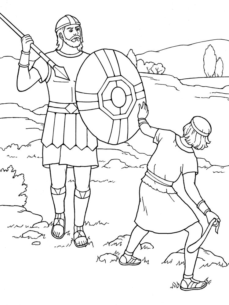 image david and goliath coloring pages
