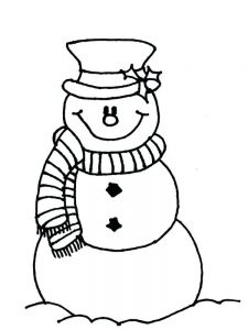 image snowman coloring pages