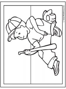 images for baseball coloring pages
