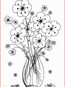 images of spring flowers coloring pages online