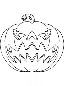 jack o lantern coloring pages printable