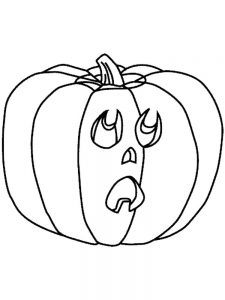 jack o lantern colouring pages