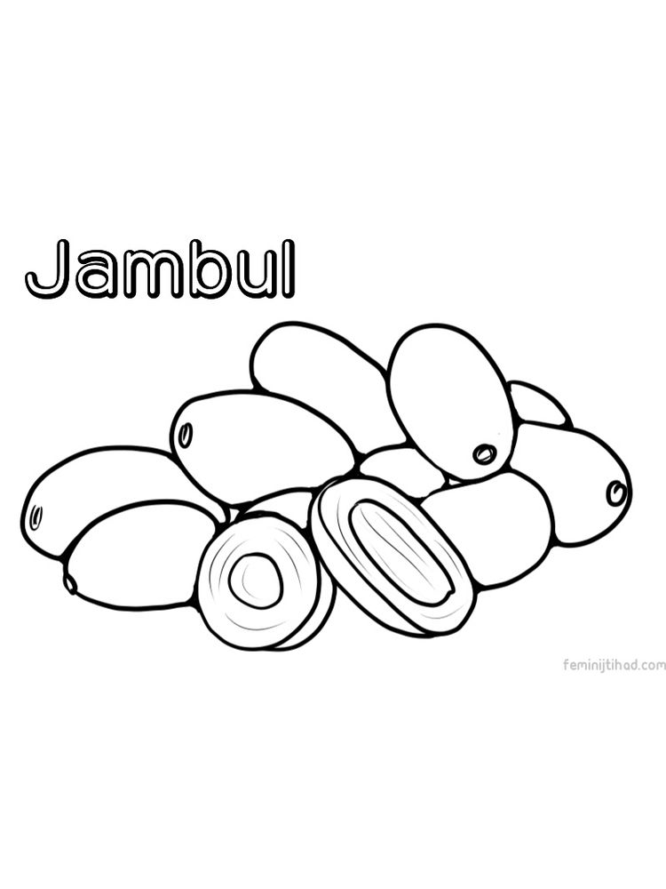 jambul coloring picture printable