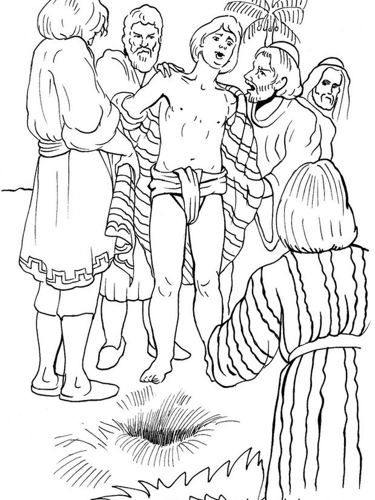 joseph sold into slavery coloring pages image
