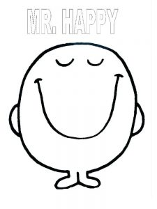 kid face coloring page