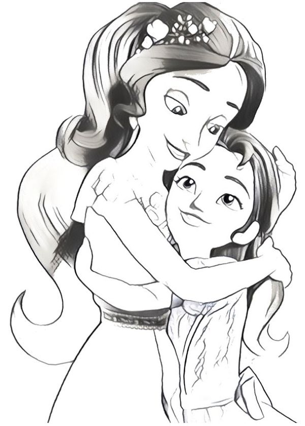 kids coloring page elena of avalor