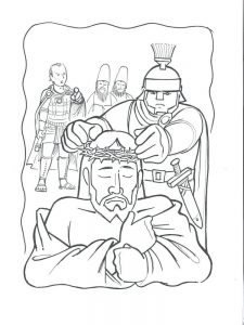 king crowning coloring pages
