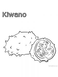 kiwano coloring pictures download