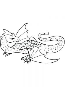 knight and dragon coloring page