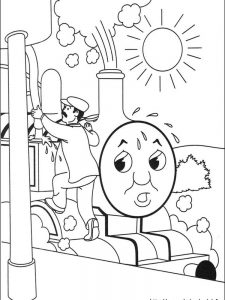 large coloring pages of thomas the train