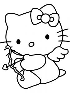 large cupid coloring page