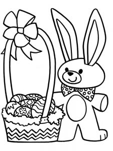 large easter basket coloring page