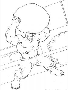lego hulk coloring page