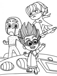 lego pj masks coloring pages