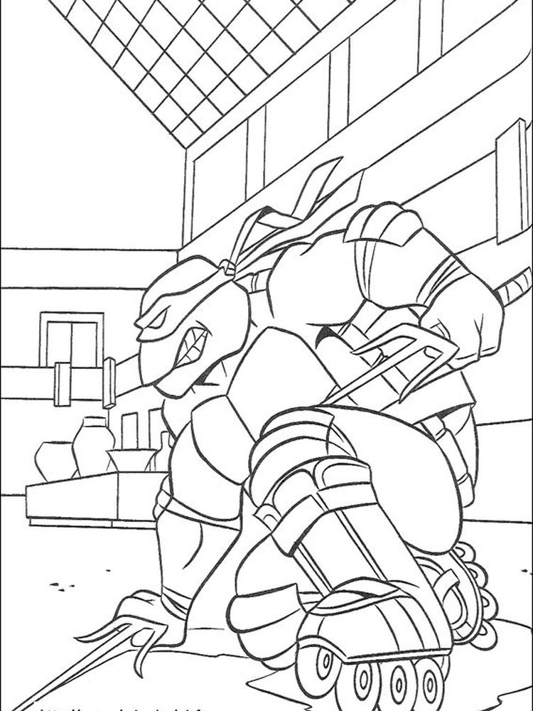 leonardo ninja turtles coloring pages