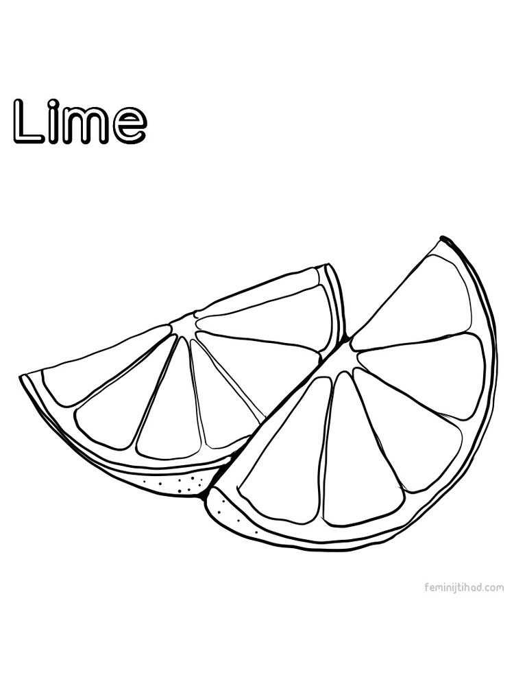 lime coloring free image 1